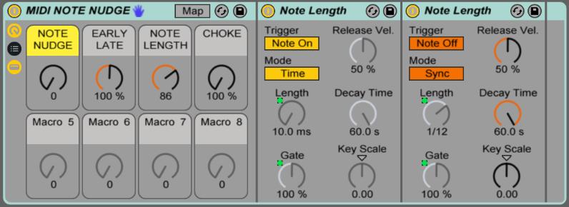 MIDI Nudge Screen