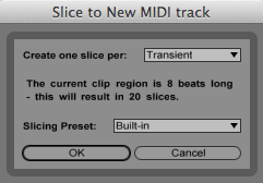 This dialog lets you select the Slicing Preset