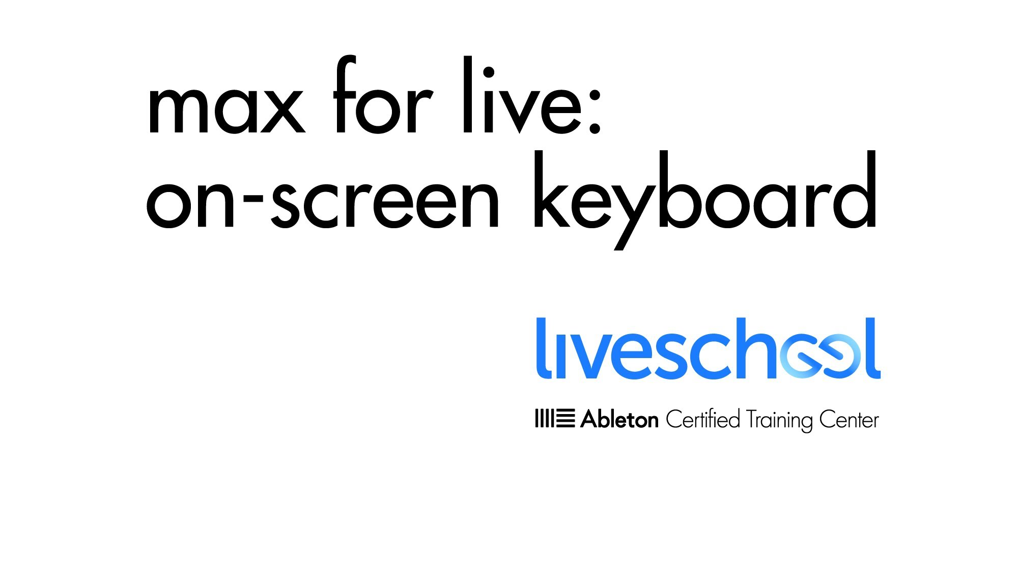 Max For Live Keyboard Tutorial