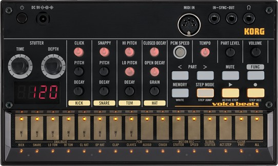 One of the prizes - a Korg Volca Beats Drum Machine.