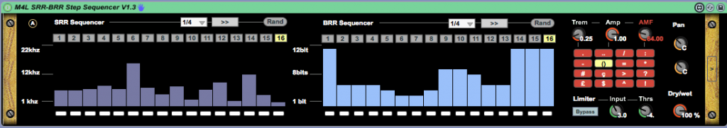 SRR BRR step sequencer