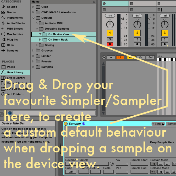save default sample ableton