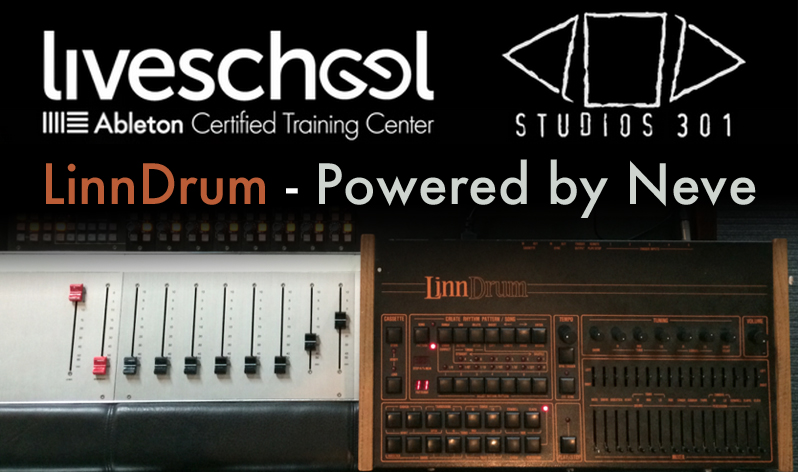 Linndrum powered by neve