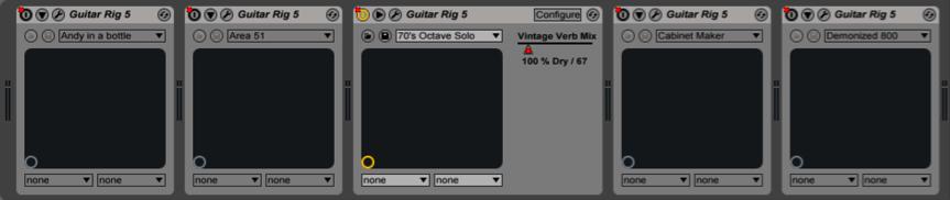 guitar rig ableton live