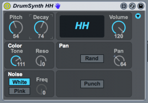 Max For Live Drum Synth HH