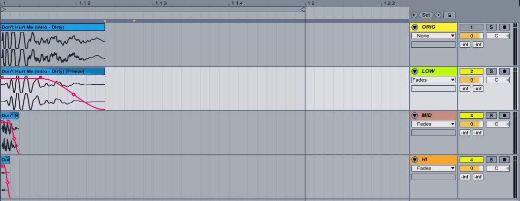 Tutorial: Fades and EQ isolate the kick
