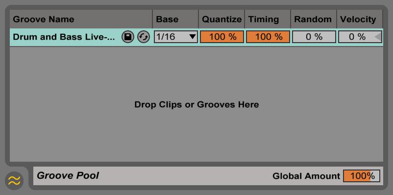 Ableton Live Groove Pool