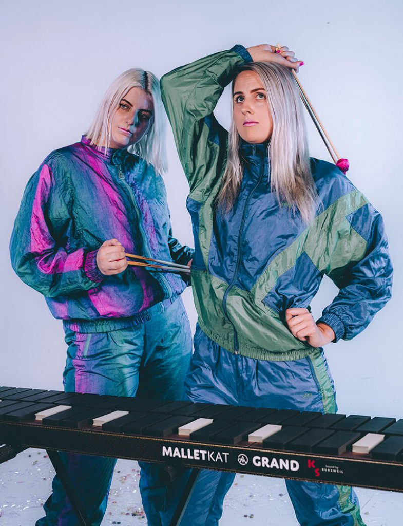 Perth duo Feels with Malletkat MIDI percussion controller