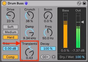 Drum Buss - Transient shaper