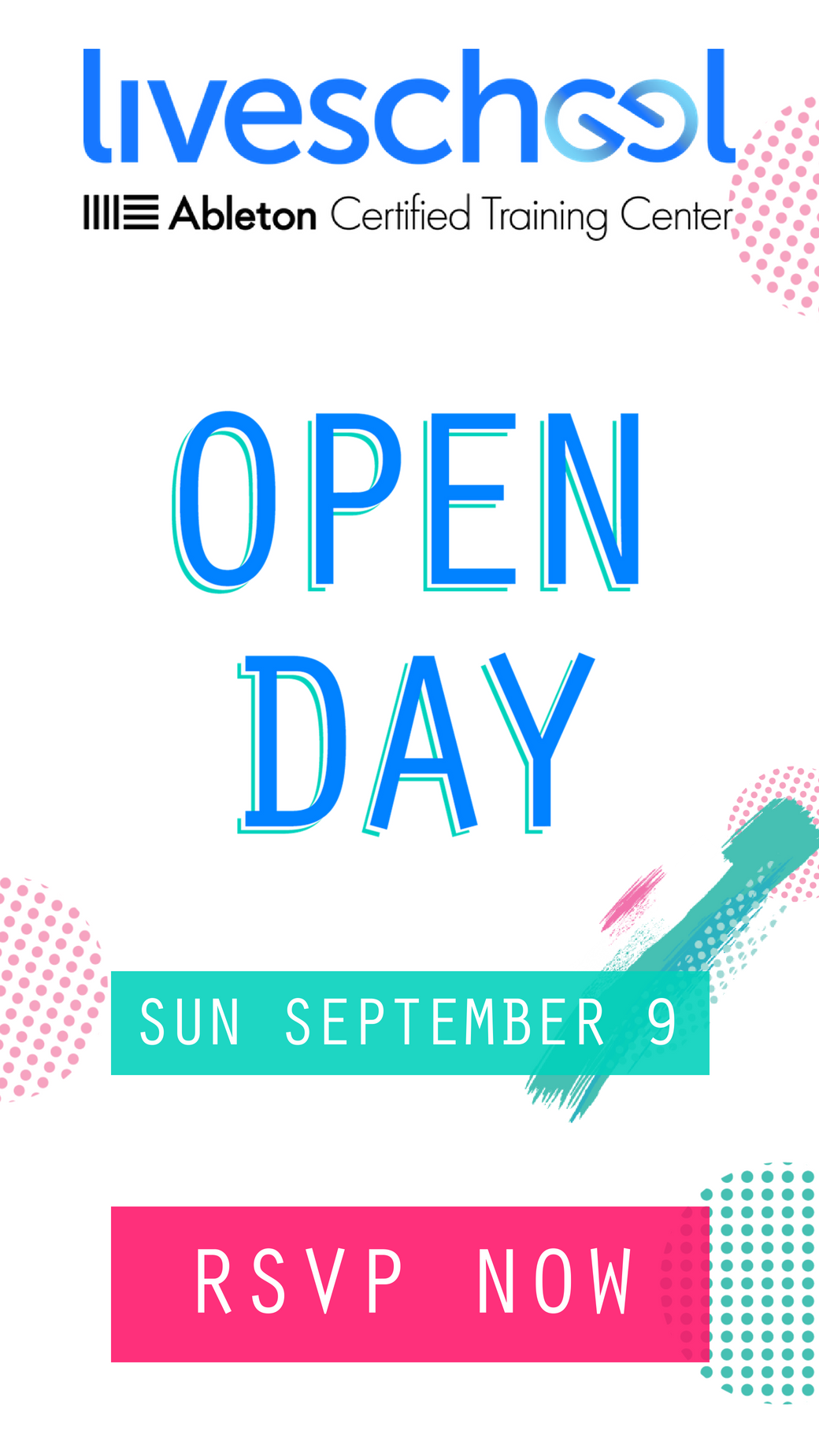 RSVP for Open Day Sept 9